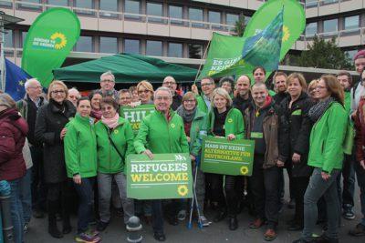 Grüne Demo Teilnehmer*innen